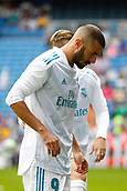 9th September 2017, Santiago Bernabeu, Madrid, Spain; La Liga football, Real Madrid versus Levante; Karim Benzema (9) of Real Madrid