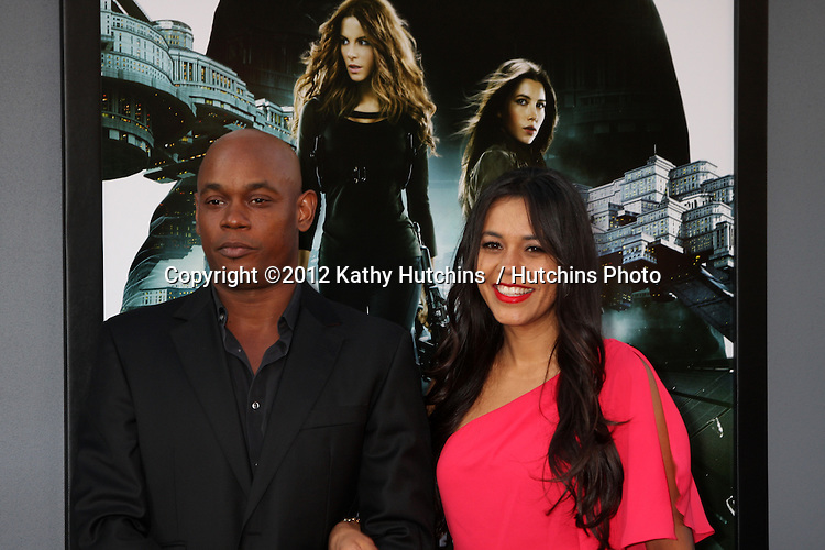 """LOS ANGELES - AUG 1:  Bokeem Woodbine arrives at the """"Total Recall"""" Premiere at Graumans Chinese Theater on August 1, 2012 in Los Angeles, CA"""