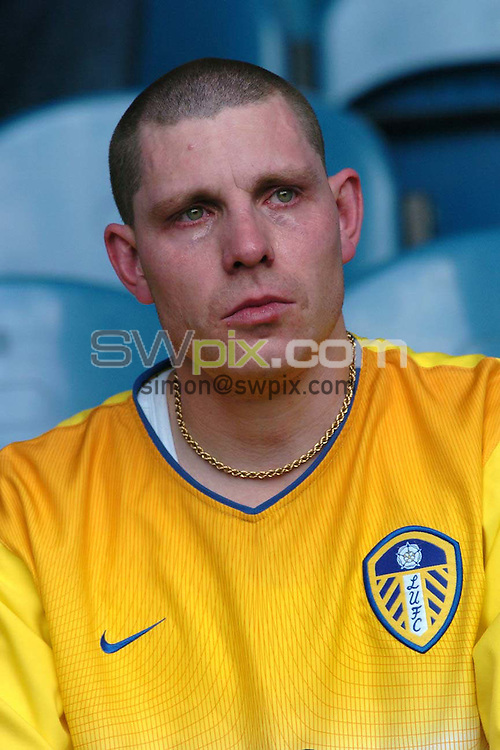 Pix: Ben Duffy/SWpix.com Premiership Football....Leeds United v Portsmouth.... 25/04/2004...COPYRIGHT PICTURE>>SIMON WILKINSON>>01943 608782>>..A Leeds fan is left in tears as his team lose at home 2-0 to Portsmouth