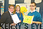 Daniel Carmody, Aisling Shalvey and Luke Stafford Lacey from Mercy Mounthawk showcased their project 'The benefits of positive psycology on students mental health, wellbeing and academic performance' at the ITT Science Fest on Tuesday.