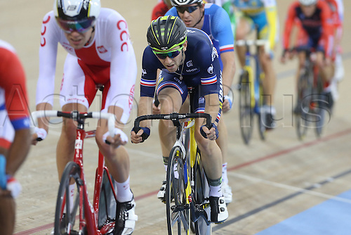 05.03.2016. Lee Valley Velo Centre, London England. UCI Track Cycling World Championships Mens Points Race.   THOMAS Benjamin (FRA) - France