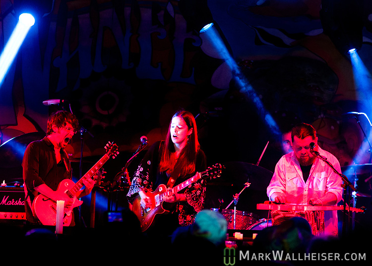 Heather Gillis leads the Freight Train Band on Wednesday night to open the 2017 Wanee Festival at the Spirit of the Suwannee Music Park in Live Oak, Florida.