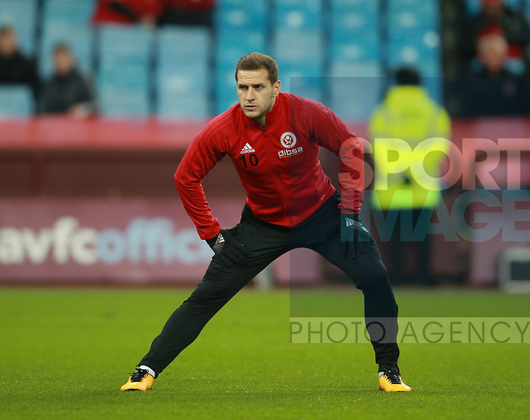 Billy Sharp of Sheffield Utd during the Championship match at Villa Park Stadium, Birmingham. Picture date 23rd December 2017. Picture credit should read: Simon Bellis/Sportimage