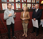 Jordan Roth, Kate Burton and Max Klimavicius attend the Sardi's Caricature Unveiling for Kate Burton joining the Legendary Wall of Fame at Sardi's on June 28, 2017 in New York City.