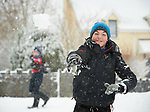 Matthew Mc Grath having fun in the snow at Woodstock View in Ennis. Photograph by John Kelly.
