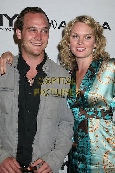 ETHAN EMBRY & SUNNY MABREY.Songs of Hope IV at Esquire House 360°, Beverly Hills, California, USA..November 1st, 2006.Ref: ADM/BP.half length grey gray jacket blue patten satin dress.www.capitalpictures.com.sales@capitalpictures.com.©Byron Purvis/AdMedia/Capital Pictures.