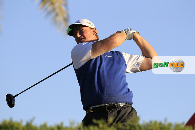 Ernie Els (RSA) tees off the 11th tee during Friday's Round 2 of the Abu Dhabi HSBC Golf Championship at Abu Dhabi Golf Club, 18th January 2013 (Photo Eoin Clarke/www.golffile.ie)