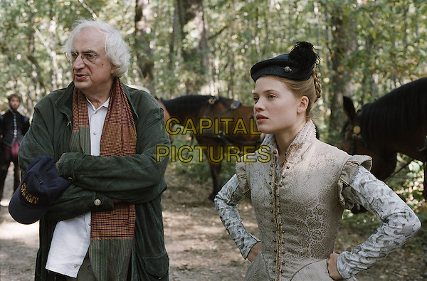 Bertrand Travernier (Director) & Melanie Thierry .on the set of The Princess of Montpensier (La princesse de Montpensier).*Filmstill - Editorial Use Only*.CAP/PLF.Supplied by Capital Pictures.