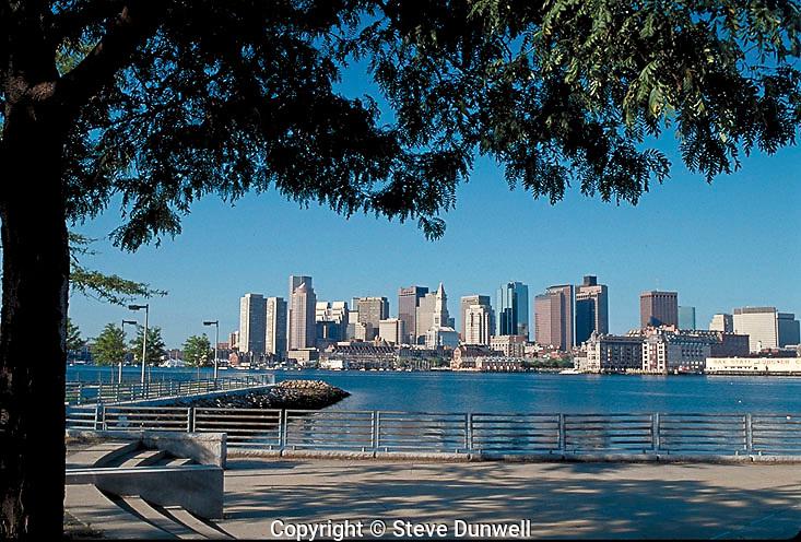 skyline from East Boston, MA