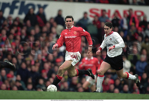 ERIC CANTONA, MANCHESTER UNITED 3 v Charlton 1, FA Cup, Round 6, 940312. Photo: Glyn Kirk/Action Plus....1994.soccer.association football.premier league.english premiership.premiership