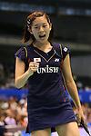 Sayaka Takahashi (JPN), <br /> SEPTEMBER 20, 2013 - Badminton : <br /> Yonex Open Japan 2013 <br /> Women's Singles <br /> at Tokyo Metropolitan Gymnasium, Tokyo, Japan. <br /> (Photo by YUTAKA/AFLO SPORT) [1040]
