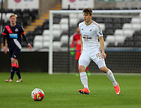 Pictured: Adnan Maric of Swansea Monday 04 April 2016<br />Re: Swansea City AFC U21 v Newcastle United FC U21 at the Liberty Stadium, Swansea, UK