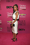 "Singer Michelle Williams  Marissa Webb Georgina Dress, Inge Christopher Clutch, and Giuseppe Zanotti Zebra Ponyskin Suede Pumps Attends ""BLACK GIRLS ROCK!"" Honoring legendary singer Patti Labelle (Living Legend Award), hip-hop pioneer Queen Latifah (Rock Star Award), esteemed writer and producer Mara Brock Akil (Shot Caller Award), tennis icon and entrepreneur Venus Williams (Star Power Award celebrated by Chevy), community organizer Ameena Matthews (Community Activist Award), ground-breaking ballet dancer Misty Copeland (Young, Gifted & Black Award), and children's rights activist Marian Wright Edelman (Social Humanitarian Award) Hosted By Tracee Ellis Ross and Regina King Held at NJ PAC, NJ"