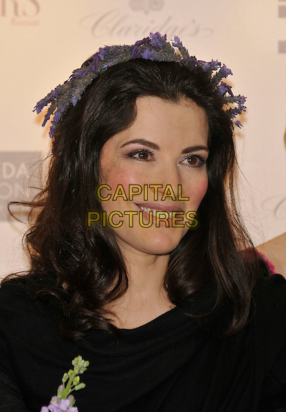 NIGELLA LAWSON.10th Anniversary Party of the Lavender Trust at Breast Cancer Care, .Claridges Hotel, London, England, UK.1st May 2008..portrait headshot lavender hair band head band hairband headband flowers purple.CAP/PL.©Phil Loftus/Capital Pictures
