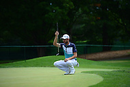 Bethesda, MD - June 24, 2016: Troy Merritt reads the green before attempting a putt on hole 1 during Round 2 of professional play at the Quicken Loans National Tournament at the Congressional Country Club in Bethesda, MD, June 24, 2016.  (Photo by Don Baxter/Media Images International)