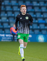 Ollie Bassett of Yeovil Town during the Sky Bet League 2 match between Wycombe Wanderers and Yeovil Town at Adams Park, High Wycombe, England on 14 January 2017. Photo by Andy Rowland / PRiME Media Images.