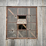 Broken windows, Ruby Hill Mine, Eureka, Nev.