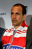 Philadelphia, PA - Friday January 19, 2018: Oscar Pareja during the 2018 MLS SuperDraft at the Pennsylvania Convention Center.