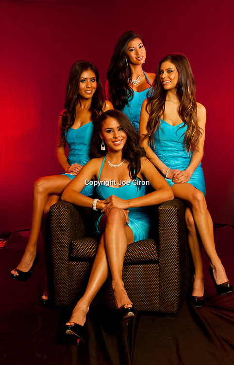 Portraits session with the World Poker Tour Royal Flush Girls.