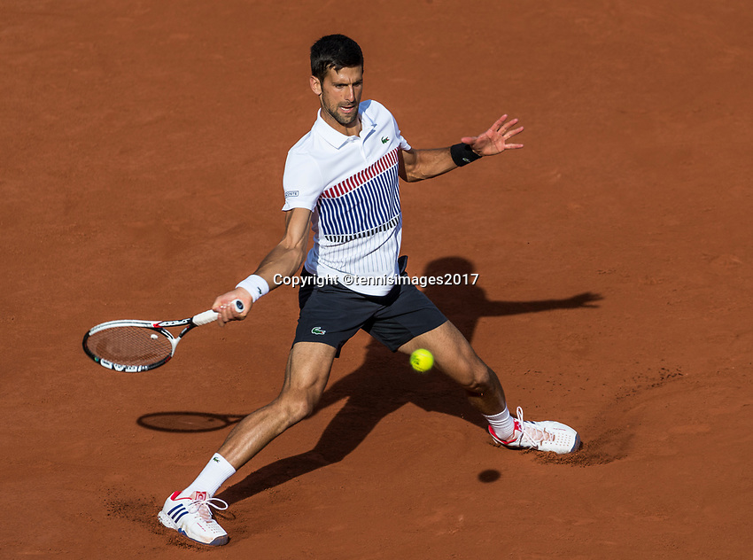 Paris, France, 4 June, 2017, Tennis, French Open, Roland Garros,  Novak Djokovic (SRB)<br /> Photo: Henk Koster/tennisimages.com