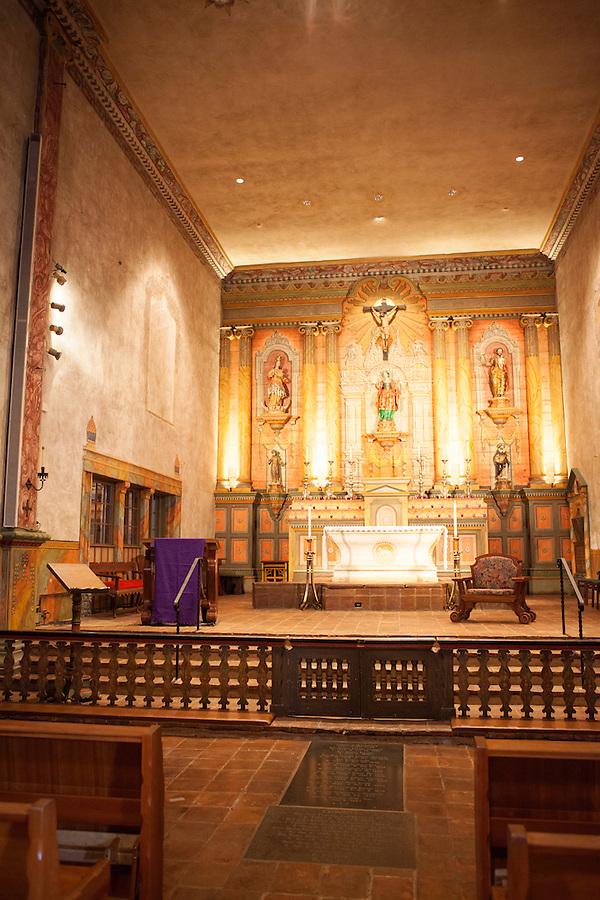 Santa Barbara Mission Church interior, Santa Barbara, California, USA