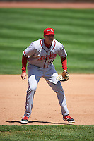 Richmond Flying Squirrels third baseman Mitch Delfino (10) during a game against the Erie Seawolves on May 20, 2015 at Jerry Uht Park in Erie, Pennsylvania.  Erie defeated Richmond 5-2.  (Mike Janes/Four Seam Images)