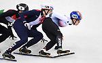 Sebastien Lepape (FRA, 128), Hyojun Lim (KOR, 189) and Shaoang Liu (HUN). Short track. Gangneung ice arena. Pyeongchang2018 winter Olympics. Gangneung. Republic of Korea. 10/02/2018. ~ MANDATORY CREDIT Garry Bowden/SIPPA - NO UNAUTHORISED USE - +44 7837 394578