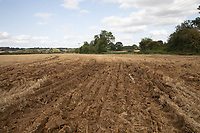 Ruts in a stubble field after machinery has been stuck<br /> ©Tim Scrivener Photographer 07850 303986<br />      ....Covering Agriculture In The UK....