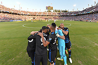 Stanford, CA - Saturday July 01, 2017: San Jose Earthquakes  during a Major League Soccer (MLS) match between the San Jose Earthquakes and the Los Angeles Galaxy at Stanford Stadium.