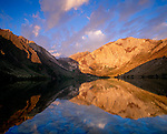 Laurel Moutain reflects into Convict Lake, Eastern Sierra, California