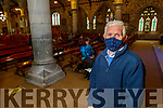 John McKiernan from Tralee attending Mass in St Johns Church on Monday morning as Churches reopen for mass