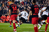 14th February 2020; Mestalla, Valencia, Spain; La Liga Football,Valencia versus Atletico Madrid; Garbiel Paulista of Valencia CF celebrates after scoring the equalizing goal for his team 1-1 in minute 40'
