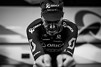 Mathew Hayman (AUS/Orica-Scott) putting the hammer down during warm-up<br /> <br /> 104th Tour de France 2017<br /> Stage 1 (ITT) - D&uuml;sseldorf &rsaquo; D&uuml;sseldorf (14km)