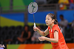 Nozomi Okuhara (JPN), <br /> AUGUST 16, 2016 - Badminton : <br /> Women's Singles Quarter-final <br /> at Riocentro - Pavilion 4 <br /> during the Rio 2016 Olympic Games in Rio de Janeiro, Brazil. <br /> (Photo by YUTAKA/AFLO SPORT)
