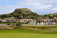 The Vardre as a back drop from the 3rd during Round 2 Singles of the Men's Home Internationals 2018 at Conwy Golf Club, Conwy, Wales on Thursday 13th September 2018.<br /> Picture: Thos Caffrey / Golffile<br /> <br /> All photo usage must carry mandatory copyright credit (&copy; Golffile | Thos Caffrey)