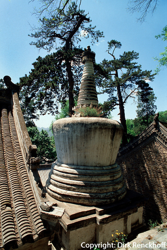 China, Peking, Stupa im Tan Zhe Si-Tempel