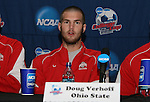 15 December 2007: Ohio State's Doug Verhoff. The Ohio State Buckeyes held a press conference at SAS Stadium in Cary, North Carolina one day before playing in the NCAA Division I Mens College Cup championship game.