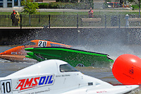 Frame 7: Jason Nelson, (#18) flips over in turn 2. (SST-45 class)