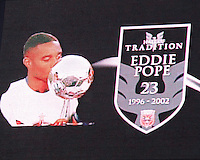 Video view of Eddie Pope inducted into the Hall of Tradition of D.C. United during an MLS match against the Los Angeles Galaxy at RFK Stadium on July 18 2010, in Washington D.C. Galaxy won 2-1.