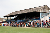 The main stand at Enfield FC Football Ground, Southbury Road, Enfield, London, pictured on 30th July 1994