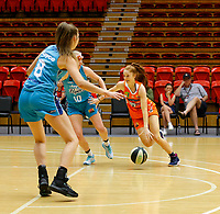 29th November 2019; Bendat Basketball Centre, Perth, Western Australia, Australia; Womens National Basketball League Australia, Perth Lynx versus Southside Flyers; Taya Burrows of the Perth Lynx drives to the basket - Editorial Use