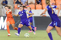 Houston, TX - Saturday Sept. 03, 2016: Andressa Machry, Alex Morgan during a regular season National Women's Soccer League (NWSL) match between the Houston Dash and the Orlando Pride at BBVA Compass Stadium.