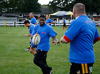 Photo: Richard Lane/Richard Lane Photography. Birkett/Hart Testimonial PRO/AM 7?s Touch Tournament. 24/08/2011.