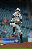 Vanderbilt Commodores relief pitcher Zach King (34) in action in game five of the 2018 Shriners Hospitals for Children College Classic at Minute Maid Park on March 3, 2018 in Houston, Texas.  The Ragin' Cajuns defeated the Commodores 3-0.  (Brian Westerholt/Four Seam Images)