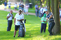 Justin Rose drives out of the rough on the #3 fairway during the BMW PGA Golf Championship at Wentworth Golf Course, Wentworth Drive, Virginia Water, England on 25 May 2017. Photo by Steve McCarthy/PRiME Media Images.
