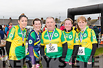 We're the Mitchell's<br /> --------------------------<br /> L-R Orla O'Beirne, Mary Fitzpatrick, Jack Moriarty, Martina Coffey and Aoife O'Connor who entered as a team under the rules of the Kerins O'Rahilly's 10k Walk-jog event last Sunday at the finish line.