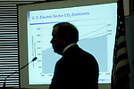 Hank Courtwright, senior vice president, Electric Power Research Institute (EPRI), talks to the Clinton School of Public Service Tuesday, May 25, 2010 in Little Rock, Arkansas.