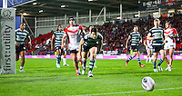 Picture by Alex Whitehead/SWpix.com - 01/05/2014 - Rugby League - First Utility Super League - St Helens v London Broncos - Langtree Park, St Helens, England - London's Ben Farrar chases down the ball.