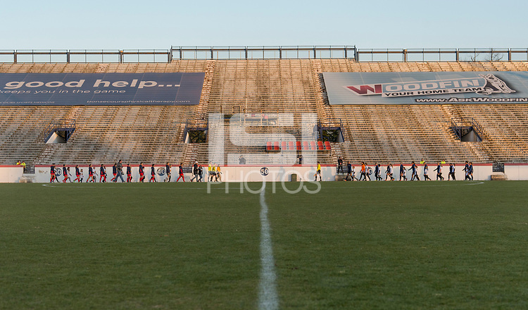 Richmond, VA - March 17, 2018: The North Carolina Courage defeated the Washington Spirit 3-0 during a preseason National Women's Soccer League (NWSL) match at City Stadium.