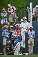 Ian Poulter (GBR) looks over his tee shot on 1 during round 4 of the Houston Open, Golf Club of Houston, Houston, Texas. 4/1/2018.<br /> Picture: Golffile | Ken Murray<br /> <br /> <br /> All photo usage must carry mandatory copyright credit (&copy; Golffile | Ken Murray)